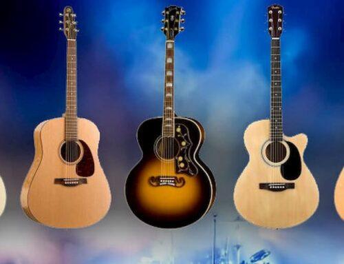 انواع گیتار آکوستیک: شکل بدنه و اندازه
