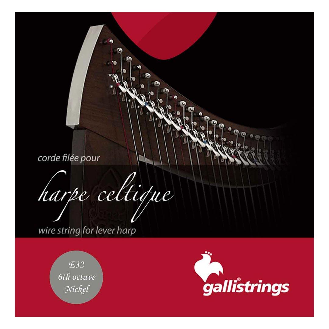 سیم چنگ Gallistrings مدل Harp Celtique E32