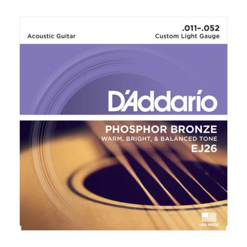 سیم گیتار DAddario مدل Phosphor Bronze EJ26