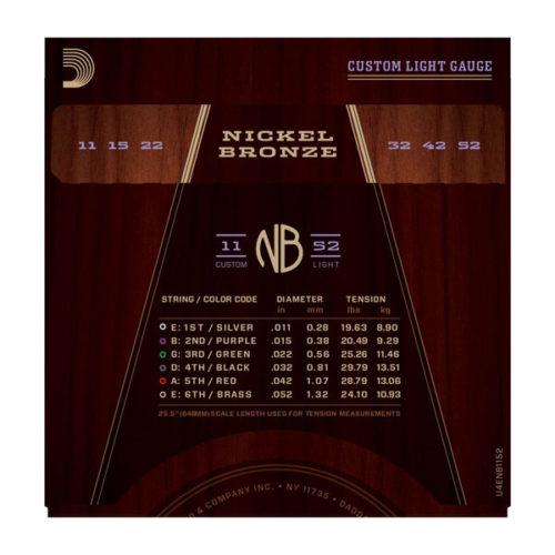 سیم گیتار DAddario مدل NB 11-52