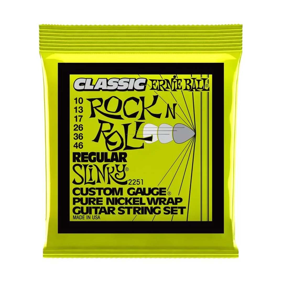 سیم گیتار Ernie Ball مدل 2251 Slinky Rock N Roll Nickel 10-46
